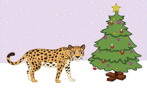 jaguraren og juletrae
