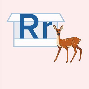 Store R og lille r